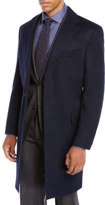 Neiman Marcus Men's Cashmere Car Coat, Navy Blue