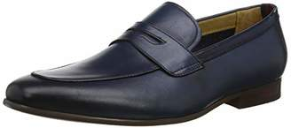 Dune Men's Sherbrooke Loafers, Blue Navy-Leather, 7 (41 EU)