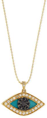 Sydney Evan Diamond Evil Eye Swivel Pendant Necklace
