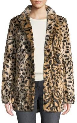 Velvet Juliana Leopard-Print Faux-Fur Jacket