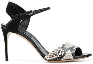 Casadei snakeskin detail ankle strap sandals