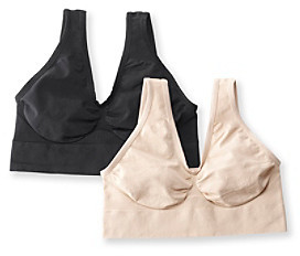 Barely There Barelythere® Soft Taupe/Black CustomFlex Fit® Get Cozy 2 Pack Bras