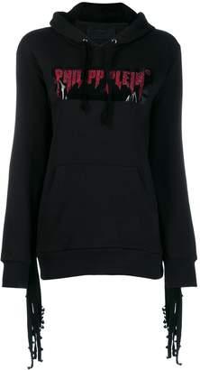 Philipp Plein cold shoulder hoodie
