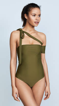 JADE SWIM Wrapped One Piece