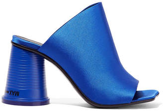 MM6 MAISON MARGIELA Satin Mules - Bright blue
