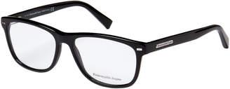 Ermenegildo Zegna EZ5001 Black Rectangle Optical Frames