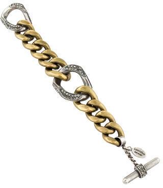 LanvinLanvin Crystal Curb Chain Bracelet