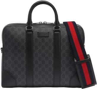 Gucci Slim Gg Supreme Logo Briefcase