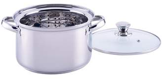 Mainstays 4 Quart Stainless Steel Steamer Pot with Steamer Insert and Lid