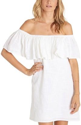 Women's Billabong Mi Bonita Off The Shoulder Ruffle Dress $49.95 thestylecure.com