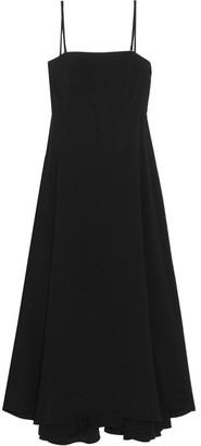 McQ Alexander McQueen - Cutout Crepe De Chine Dress - Black $625 thestylecure.com