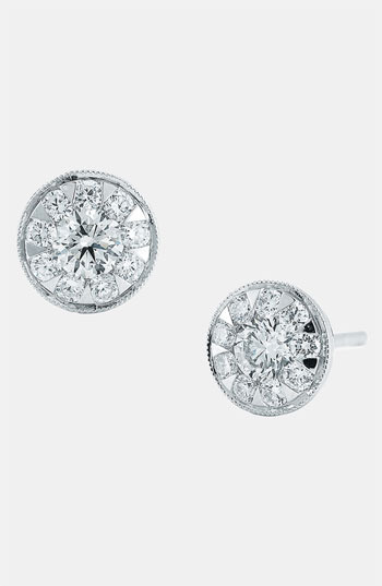 Kwiat 'Sunburst' Diamond Stud Earrings