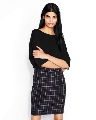 Express High Waisted Plaid Pencil Skirt