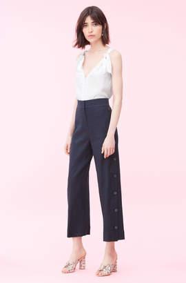 Rebecca Taylor Linen Button Pant