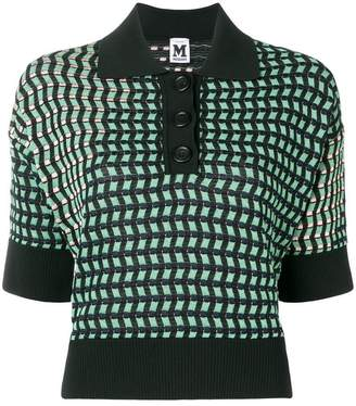 M Missoni jacquard knit geometric top
