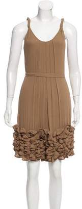 Yoana Baraschi Silk Knee-Length Dress