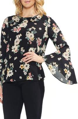 Vince Camuto Floral Story Bell Sleeve Blouse