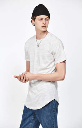 adidas Pacsun Imperial Striped Scallop T-Shirt
