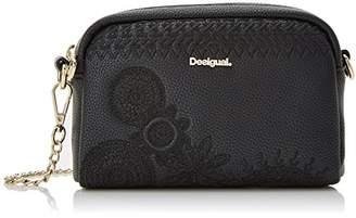 Desigual Bols_dark Amber Maracaibo, Women's Bag, Black (Negro), 5x12x19.5 cm (B x H T)