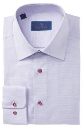 David Donahue Mini Check Regular Fit Dress Shirt