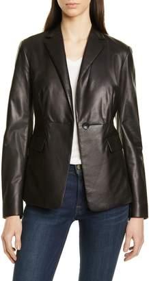 Nordstrom Signature Leather Blazer