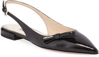 Prada Pointed Slingback Ballet Flats