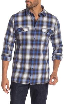 Civil Society Modern Fit Plaid Button Front Shirt