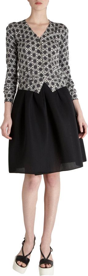 Jil Sander Navy Full Wrap Skirt