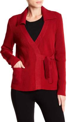 Blend of America Beyond Threads Office Self Tie Knit & Felted Wool Blend Cardigan