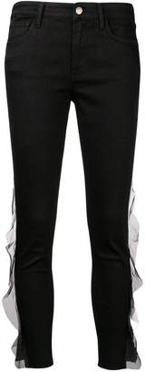 J Brand cropped ruffle detail trousers