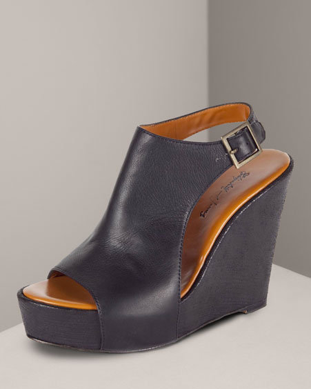 Elizabeth And James Ankle-Wrap Wedge