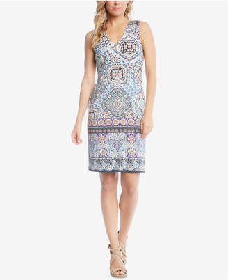 Karen Kane Sleeveless Printed Sheath Dress