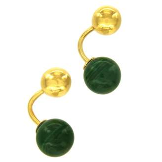 Cartier Vintage Green Yellow gold Cufflinks