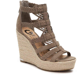 Women's Madison Wedge Sandal -Taupe/Stone $79 thestylecure.com