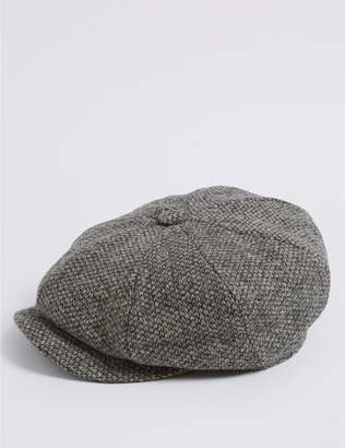 Marks and Spencer Pure Wool Baker Boy Hat with Thinsulate