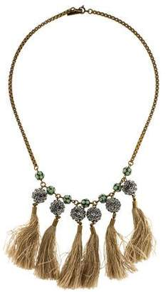 Isabel Marant Crystal Ball Tassel Necklace