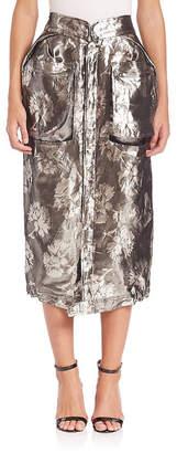 Roberto Cavalli Metallic Midi Cargo Skirt