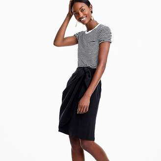 J.Crew Petite wrap skirt in Japanese cupro