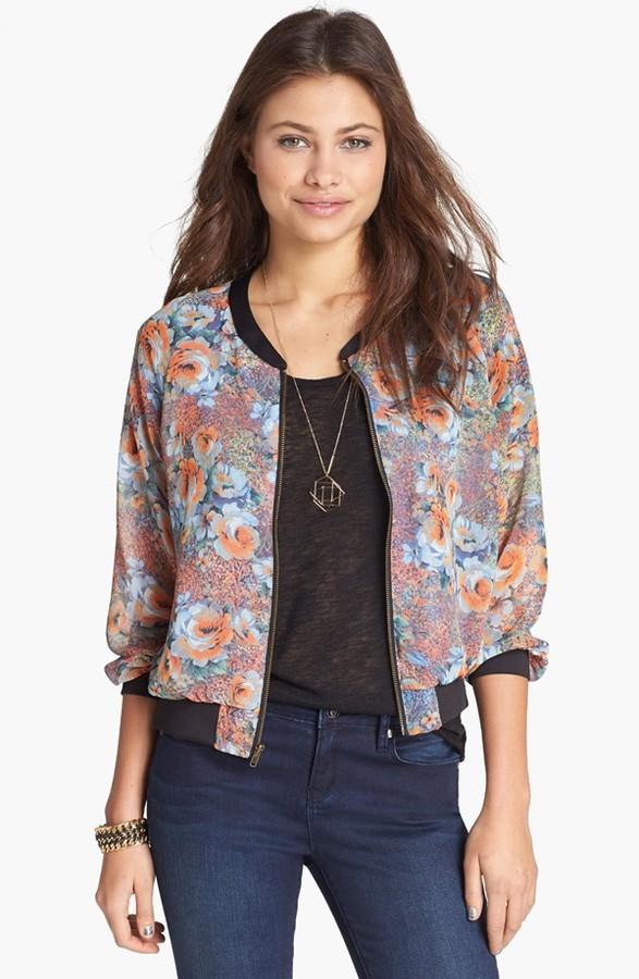 Lush Print Varsity Jacket (Juniors)