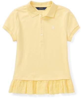 Ralph Lauren Eyelet-Hem Mesh Polo Shirt