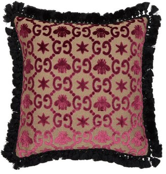 Gucci Gg Jacquard Cushion - Pink Multi