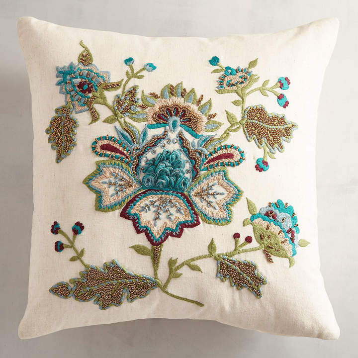 Embroidered Jacobean Pillow