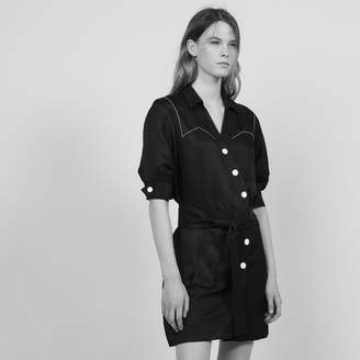 Sandro Short dress with asymmetrical buttoning
