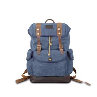 EAZO - Canvas Backpack for Backpacking Blue