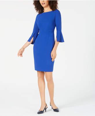 aa404f14a1b3d Elie Tahari Isla Split-Sleeve Sheath Dress