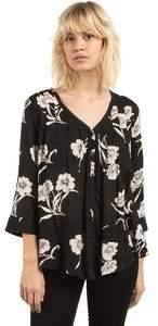 Volcom Women's Slipinslide Allover Print Button Front Top