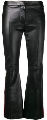 Alexander McQueen cropped lambskin trousers