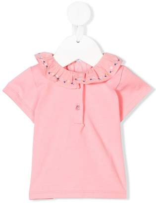 Knot embroidered polo top