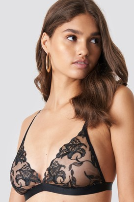 Na Kd Lingerie Double Strap Embroidery Sheer Bra