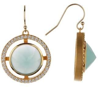 DEAN DAVIDSON Apex Crystal & Chalcedony Earrings